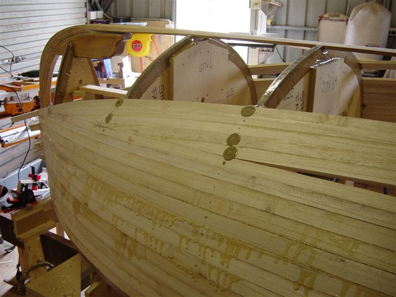 Каркас лодки из реек фото