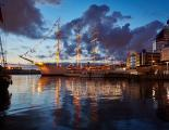 A large sailing ship in the port of Göteborg, Sweden. Summer quiet evening.jpg