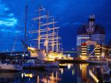 A large sailing ship in the port of Göteborg, Sweden.jpg