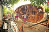 строительство деревянных парусных лодок
