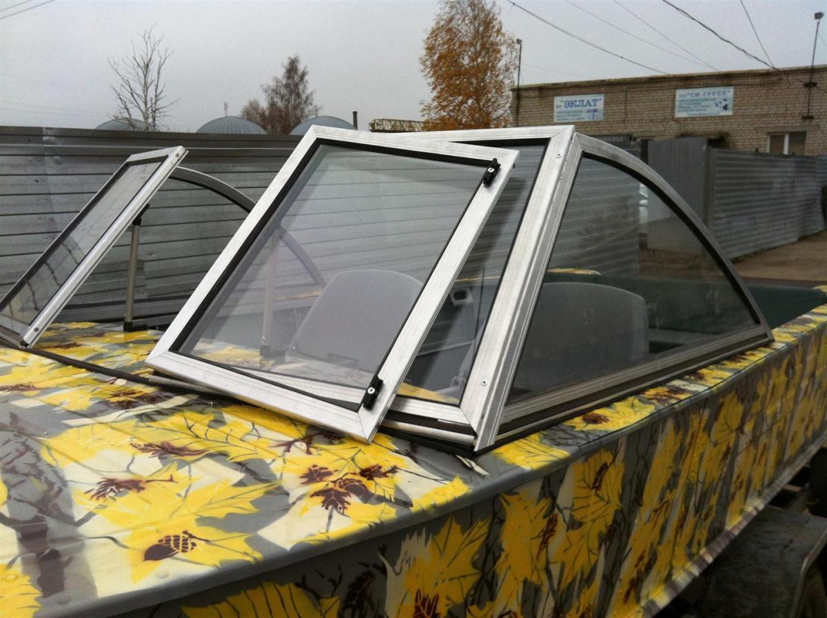 Как сделать ветровое стекло на лодку обь м своими руками